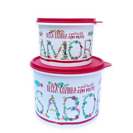 Tupperware Kit Caixa Amor e Sabor 2 Pecas