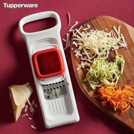 Tupperware Super Chef Mini Ralador Branco e Vermelho