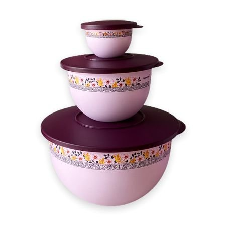 Tupperware Kit Tigela Murano Púrpura 3 Pecas