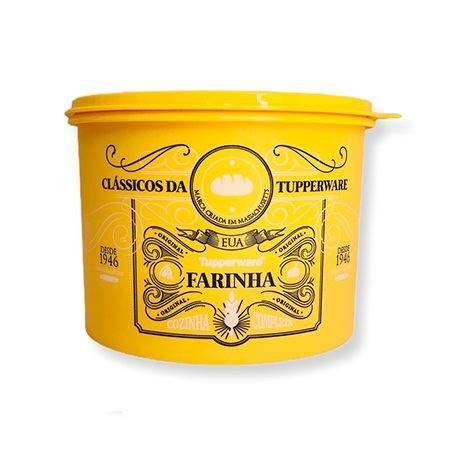 Tupperware Caixa Clássica Farinha 1,8kg Amarela