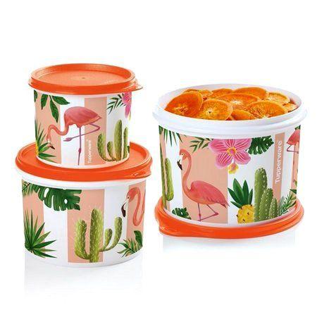 Tupperware Caixas Flamingo 3 Pecas Laranja