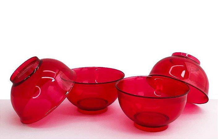 Tupperware Tigela Cristal 250ml Policarbonato Rosa