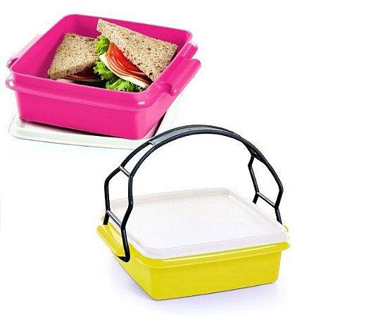 Tupperware Pote com Alça 780ml 2 Pecas Rosa e Amarelo
