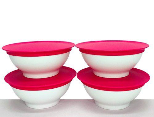 Tupperware Tigela Allegra 275ml Rosa 4 Pecas Importada