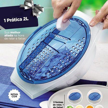 Tupperware Prática 2 Litros Azul