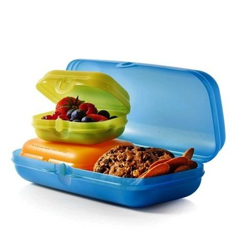 Tupperware Estojo Oyster Snack Keeper 3 Pecas