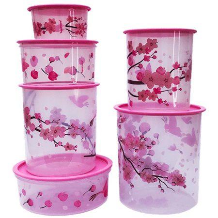 Tupperware Instantâneas Flor de Cerejeiras 6 Pecas
