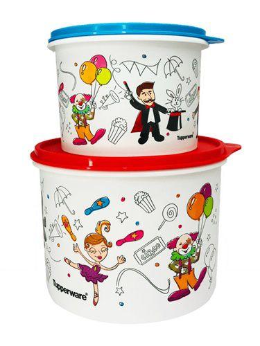 Tupperware Caixas Circo 2 Pecas