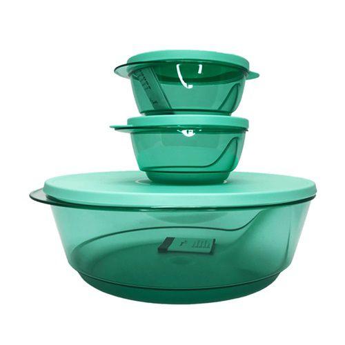 Tupperware Tigelas Design Verde 3 Pecas
