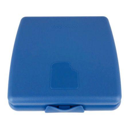 Tupperware Porta Sanduíche Quadrado Azul