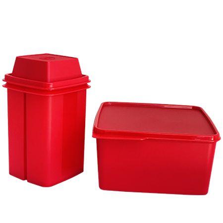 Tupperware Basic Line e Serve e Conserva Vermelho