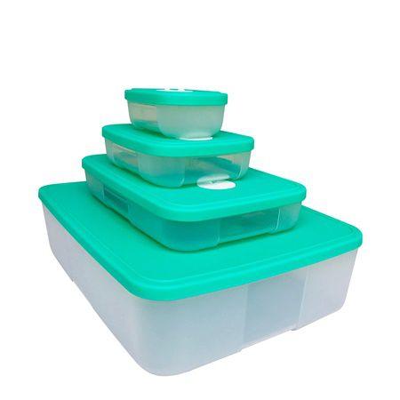 Tupperware Freezertime 4 Pecas Verde