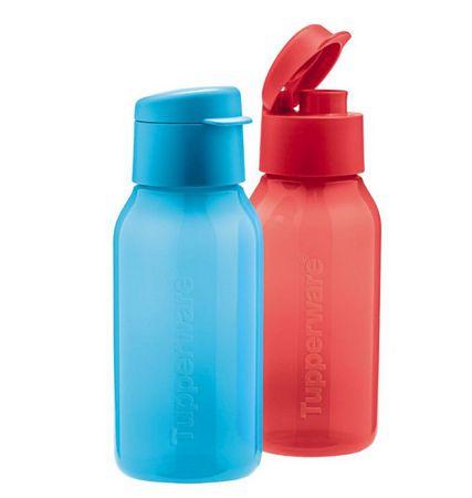 Tupperware Eco Garrafa Plus 350ml Vermelha e Azul