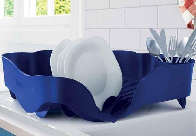Tupperware Escorredor de Louças Azul Importado