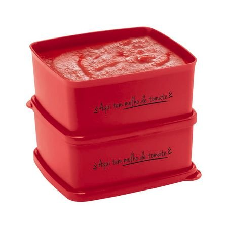 Tupperware Jeitosinhos Aqui Tem Molho de Tomate 2 Pecas