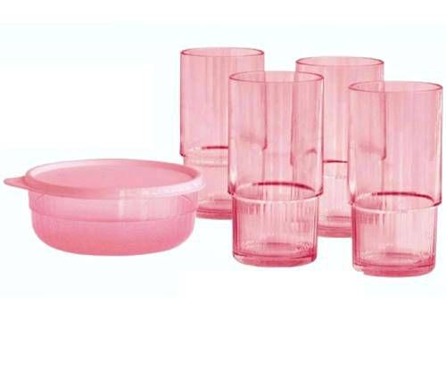 Tupperware Copo e Tigela Premier Candy Rosa