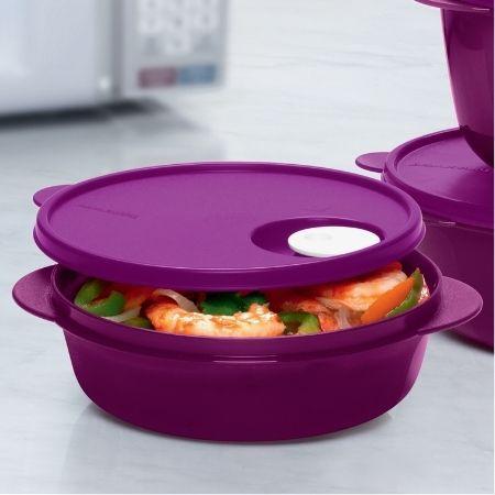 Tupperware Cristalwave Redondo 1 Litro Roxo