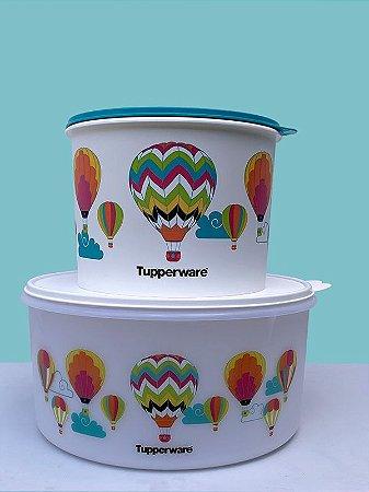 Tupperware Conjunto Porta Tudo Balões 10 Litros Branco