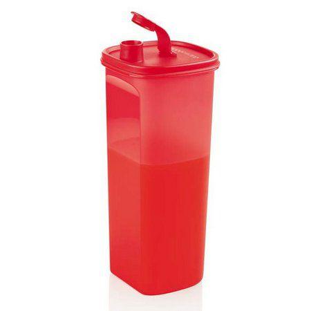 Tupperware Jarra Slim 2 Litros Vermelha