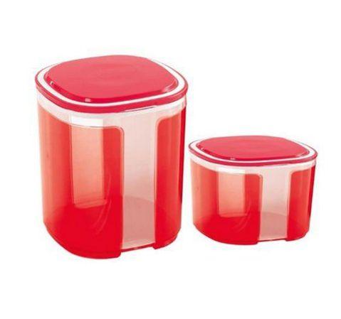 Tupperware Kit Pote Visual Vermelho Policarbonato