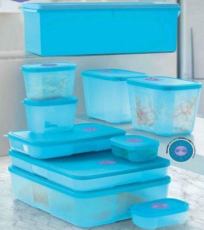 Tupperware PDA Freezertime 10 Pecas Azul