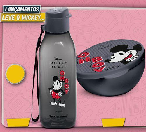 Tupperware Mickey Eco Garrafa 500ml e Pote Redondo 300ml