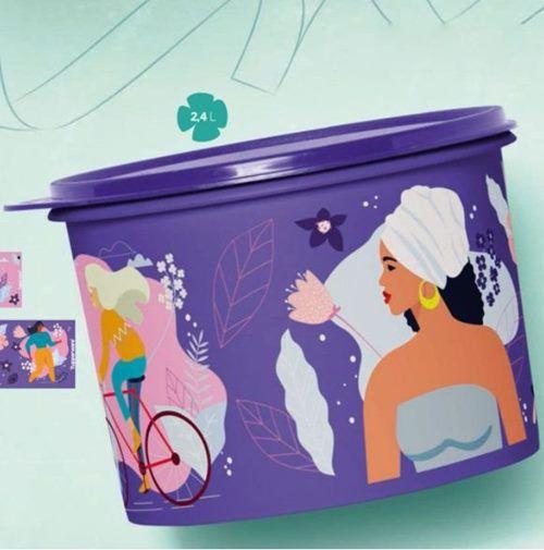 Tupperware Caixa Mulheres 2,4 Litros Roxa