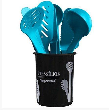 Tupperware Kit Porta Utensílios Redondo 9 Pecas