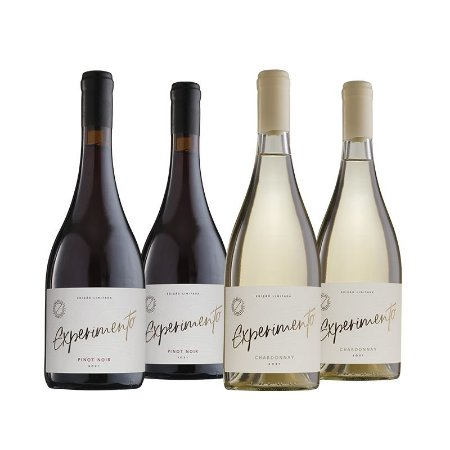 Kit Experimento - 2 Pinot Noir e 2 Chardonnay