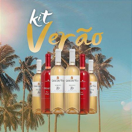 Kit Verão 02 -  2 Rosé Merlot 2 Riesling 2 Moscato