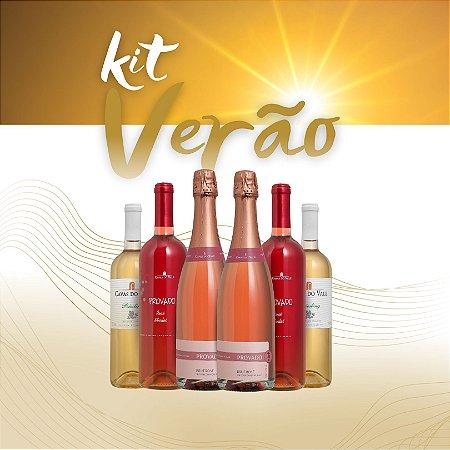 Kit Verão 03 -  2 Rosé Merlot 2 Riesling 2 Brut Rosé