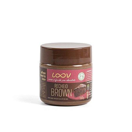 CREME DE CHOCOLATE ZERO AÇÚCAR LOOV RECHEIO BROWN 160G