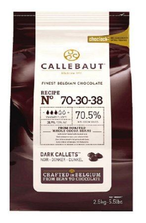 Chocolate Belga Amargo 70-30-38 (70,5% Cacau) - Gotas 2,1 Kg