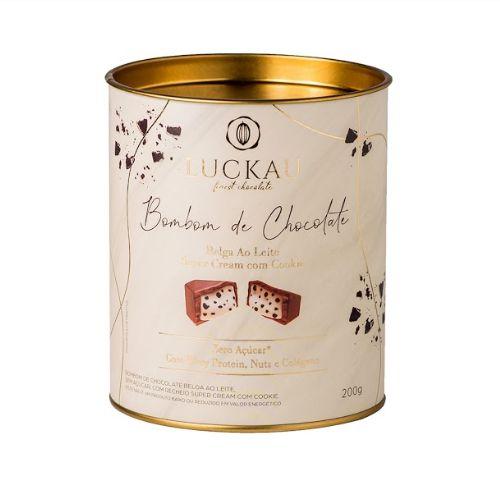 Luckau Bombom De Chocolate Belga Cookies E Cream Zero Açúcar