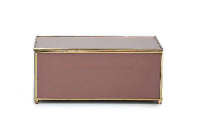 Caixa Rosa com Dourado G