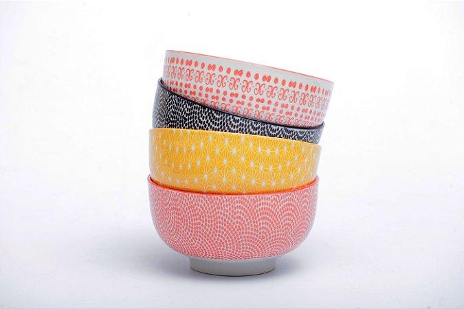 Conjunto de 4 Bowls Coloridos 13x7