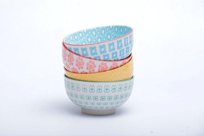 Conjunto de 4 Bowls Coloridos 16x9