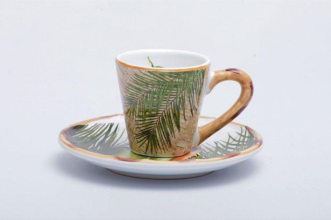 Xícara  Itacaré em cerâmica com 6 pçs