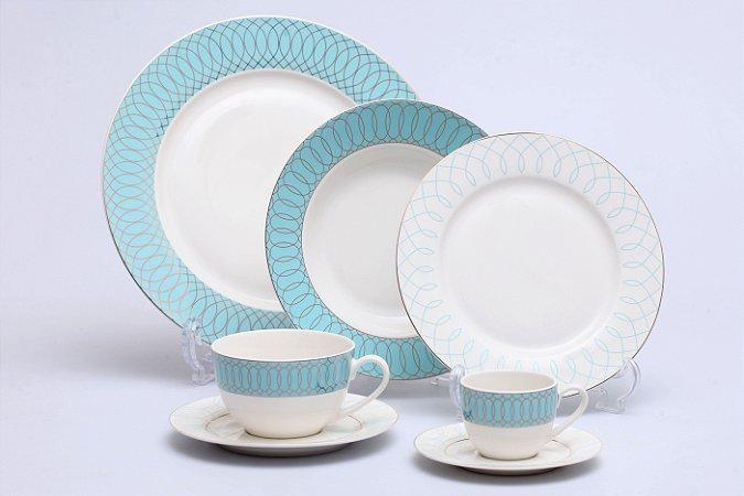 Aparelho de Jantar de Porcelana Maldives 42PÇS