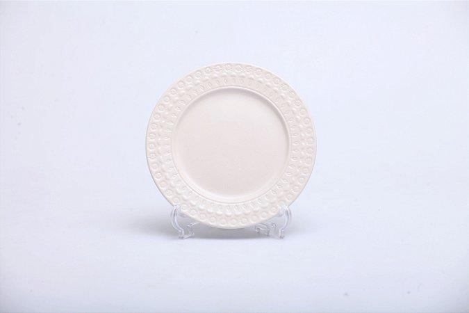 Prato de Sobremesa em Porcelana Grace com 6 pçs