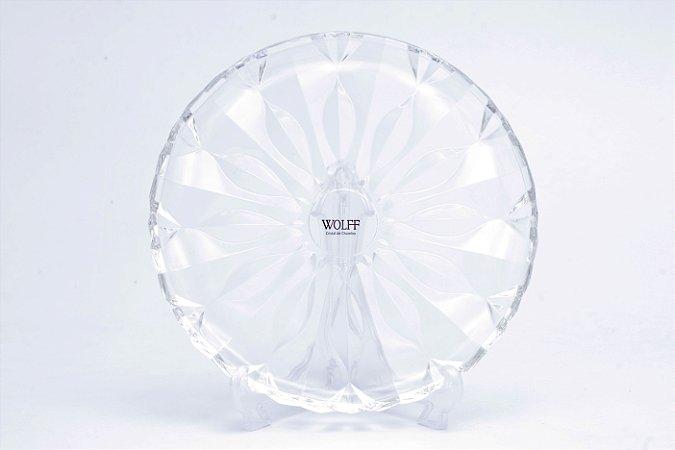 Prato de Cristal de Chumbo para Bolo Louise