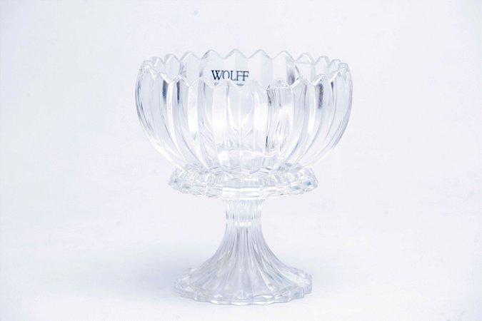 Centro Mesa de Cristal de Chumbo com Pé Geneva 16 cm