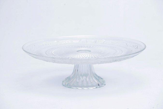 Prato para Bolo de Vidro 33cm