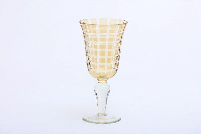 Conjunto de Taças para Vinho Tinto em Vidro Ambar 6pçs