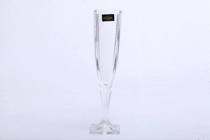 Conjunto de Taças de Champagne de Cristal de Chumbo Arezzo 6pçs