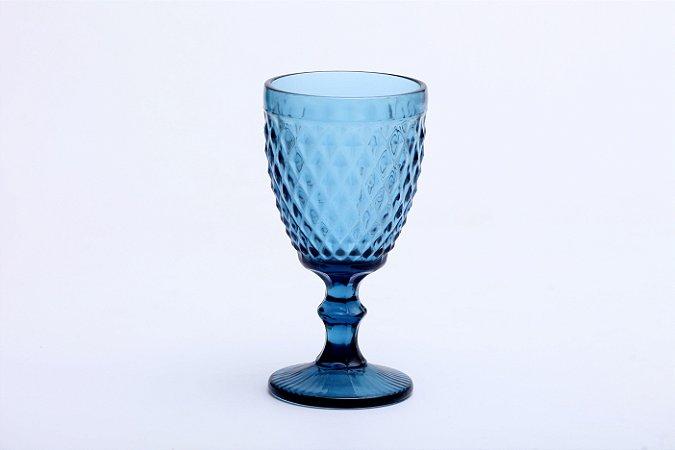 Conjunto de Taças para Água em Vidro Bico de Abacaxi Azul 6 pçs