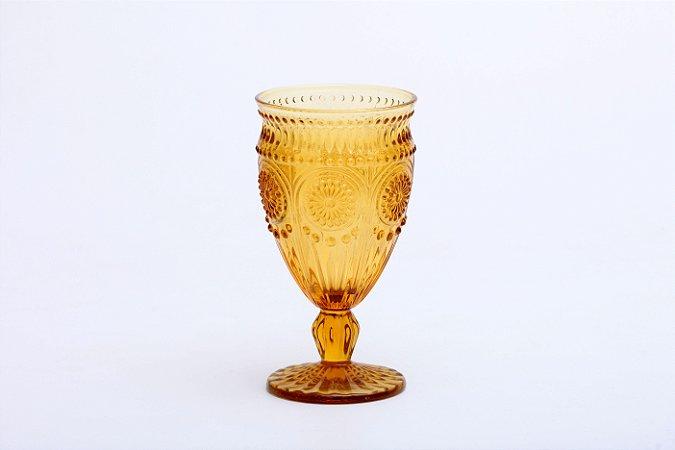 Conjunto de Taça para Água em Vidro  Aubusson Âmbar 6 pçs