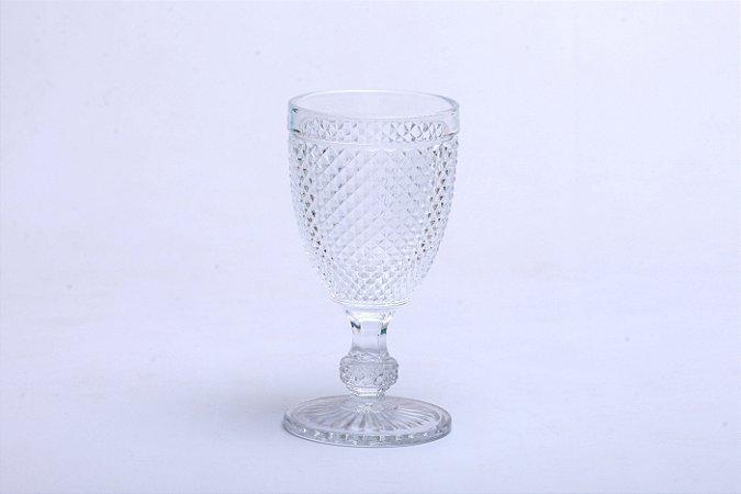 Conjunto de Taça para Água em Vidro Bico de Jaca  Transparente 6pçs