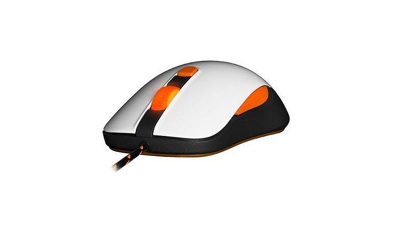 Mouse Steelseries Kana V2 Branco Laranja 4000DPI