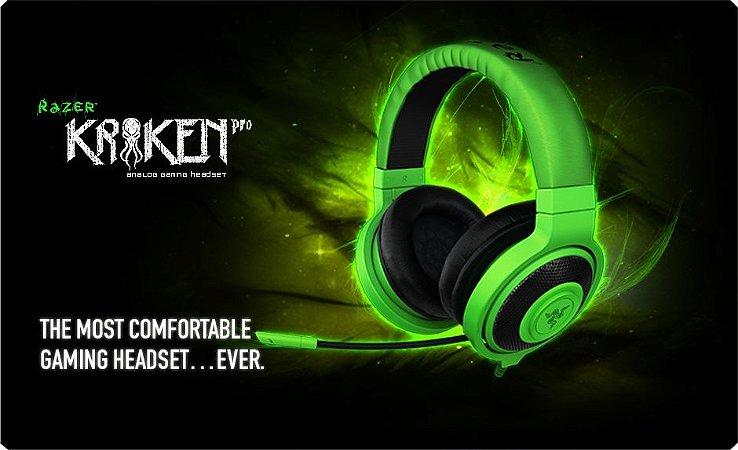Headset Razer Kraken Pro Verde